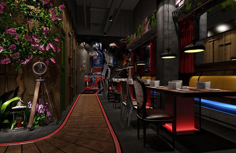 锦华海鲜自助餐厅装修设计