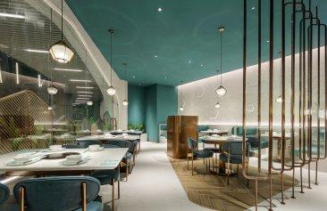 椰林约会火锅餐厅装修设计案例
