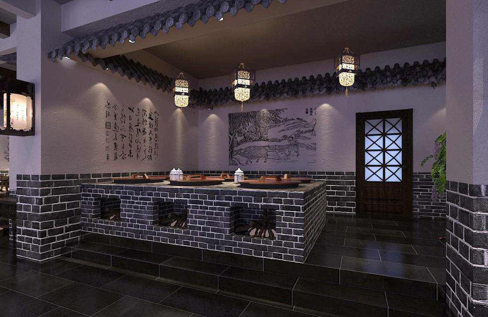 小灶台中餐馆装修设计案例