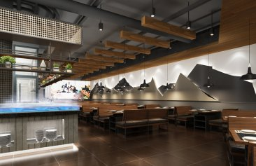 宜鼎鲜巴西自助餐厅装修设计